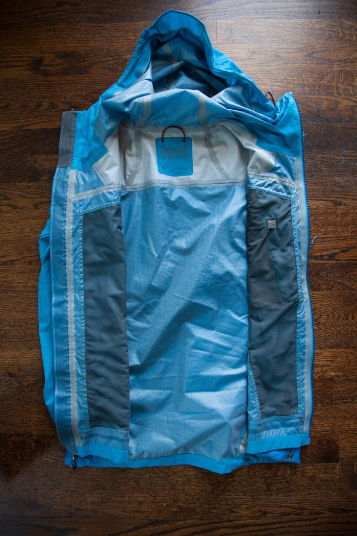 Inside lining of Outdoor Research Proverb Rain Jacket