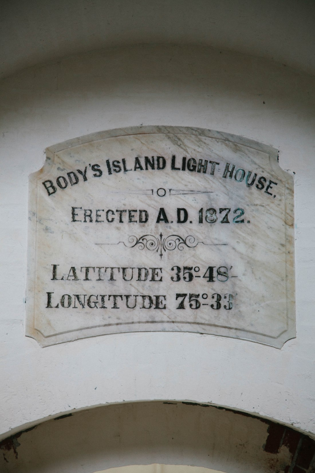 bodie island lighthouse plaque